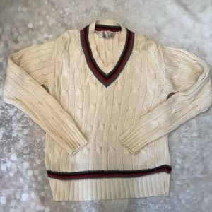 Vintage Mark Cross Cable Knit Cotton Sweater